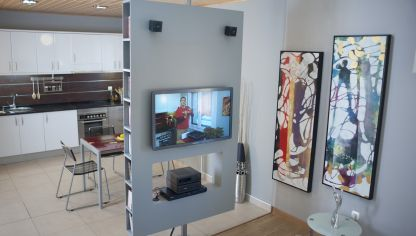 Crear mueble multimedia giratorio