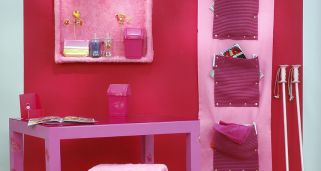 Decorar estudio en color rosa