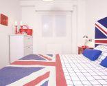 Dormitorio de estilo inglés o British