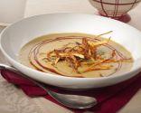 Crema de lentejas al curry con patatas paja