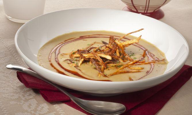 Receta de crema de lentejas al curry con patatas paja - Lentejas con costillas y patatas ...