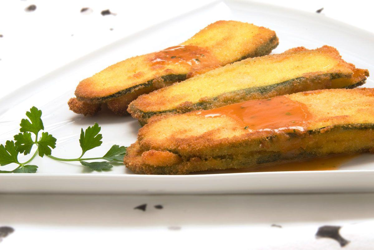 Las mejores recetas de calabacín de Karlos Arguiñano - San jacobos de calabacín