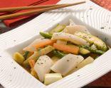 Verduras al wok con calamares