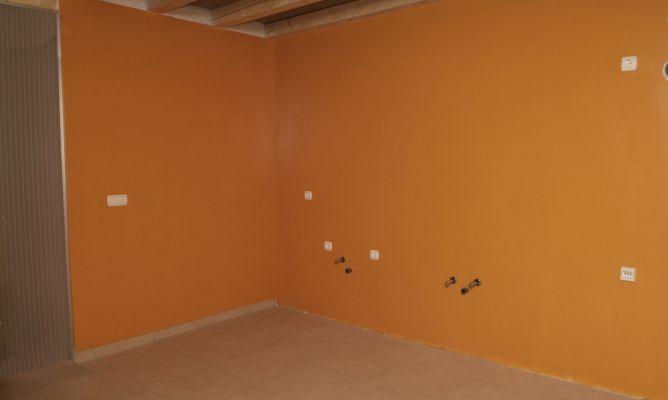 Pintar pared de obra de cocina bricoman a - Pintura pared cocina ...