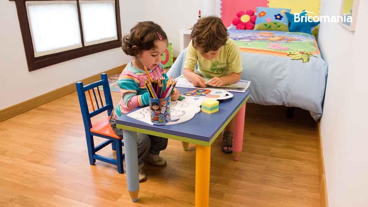 mesa diy para niños