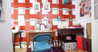 decorar taller de costura con vestidor
