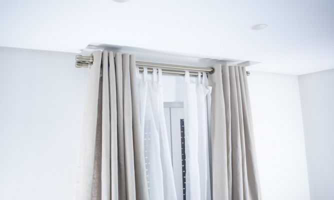 Colocar barra de cortina doble bricoman a - Barras para visillos ...
