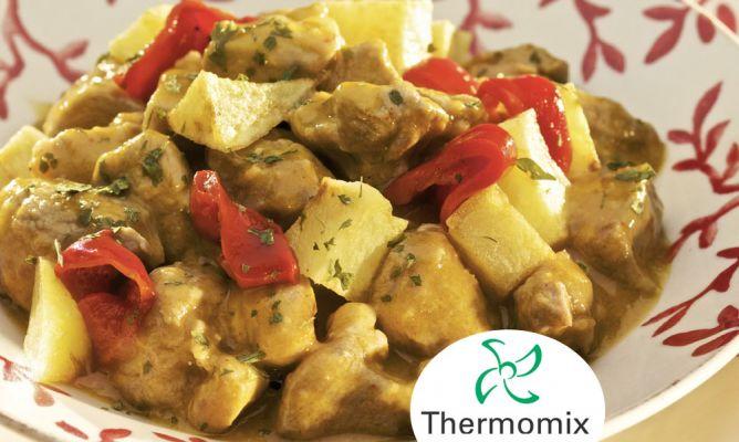 Receta De Guiso De Cordero En Salsa Con Patatas Fritas Para Thermomix Hogarmania
