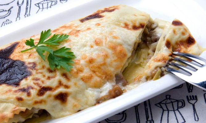 Receta de Lasaña de setas y queso - Karlos Arguiñano