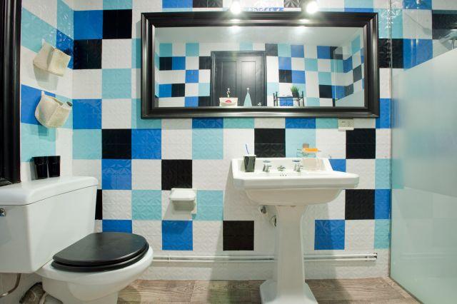 El Bano Azul.Ideas Para Decorar El Bano En Color Azul Combinar Colores