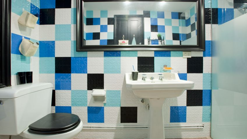 Ideas para decorar el baño en color azul - Combinar colores