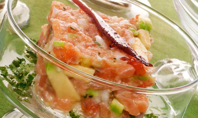 El mejor tartar de salmon ahumado