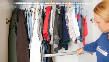 barra de armario extensible