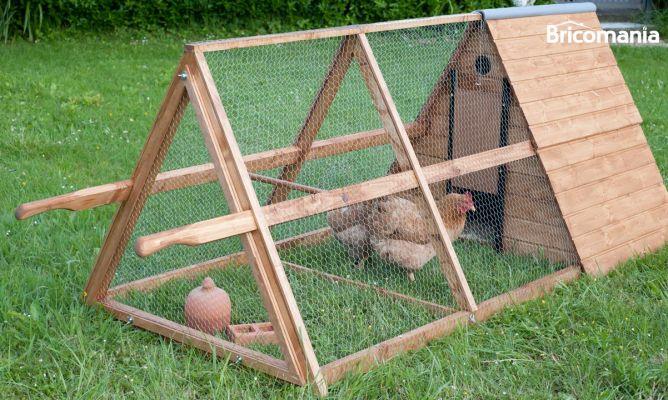 Construir un gallinero m vil bricoman a - Casas para gallinas ...