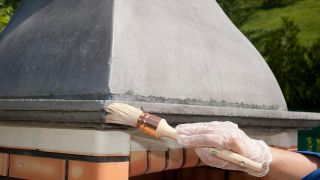 Pintar chimenea exterior