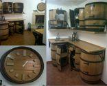 Muebles de cocina con barricas