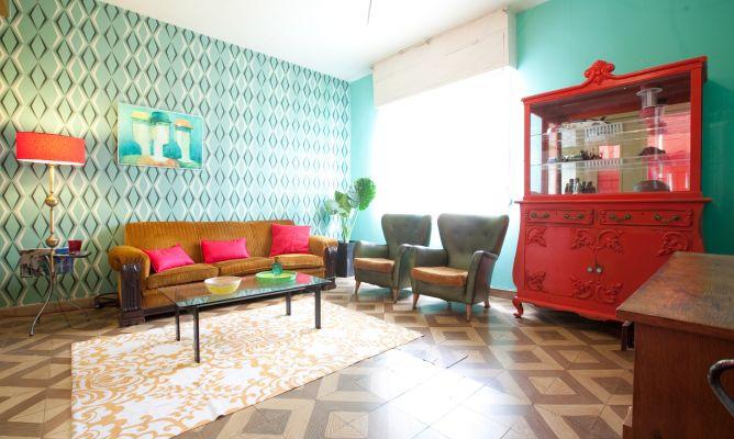 Salón de estilo retro  Decogarden