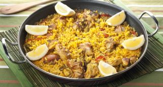 Paella de carne y jud�as