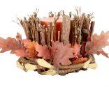 Decoración de otoño: velas