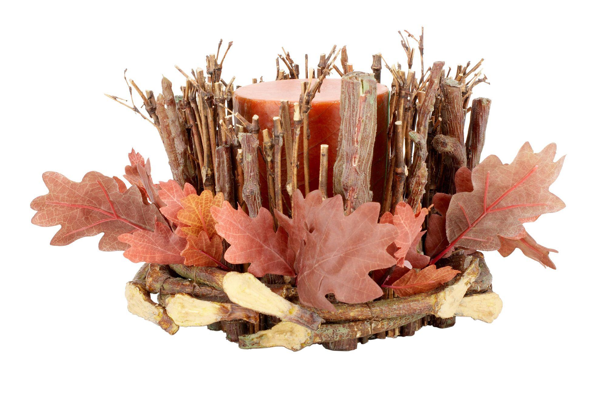 Decoración de otoño con velas