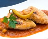 Bonito en salsa de tomate y guindillas de Ibarra