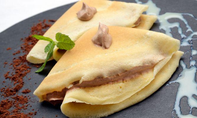 recetas de crepes dulces rellenos