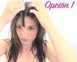 Cortarse el pelo forma redondeada paso 1