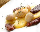 Patatas, huevos y tomates confitados