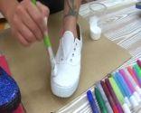 Decorar unas zapatillas a mano