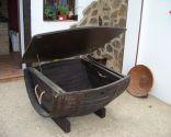 Hacer una mesa baúl con un barril