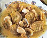 Receta de Alcachofas con almejas y calamares