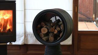Reciclar un tambor de lavadora en leñero