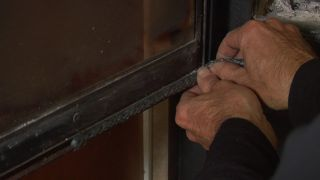 Sellado de puerta de chimenea