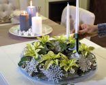 Centro de navidad con ponsetia blanca - paso 4