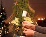 Paso 2 - Árbol de Navidad con poinsettia