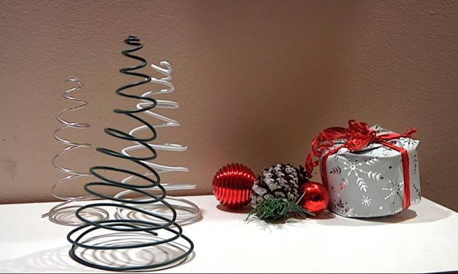 Crear abeto navide o con alambre bricoman a - Arbol de navidad de alambre ...