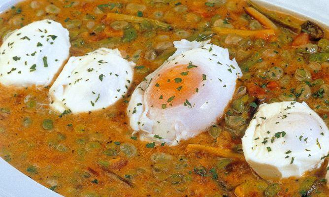 Receta De Huevos Con Ajos Frescos Y Habitas Karlos Arguiñano