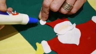Calcetín de Navidad de fieltro - Paso 10