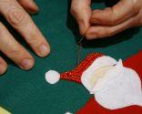 Calcetín de Navidad de fieltro