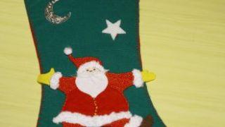 Calcetín de Navidad de fieltro - Paso 16