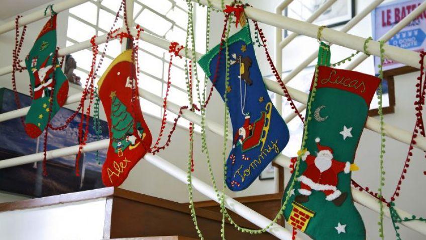 Calcetn de Navidad de fieltro Hogarmania