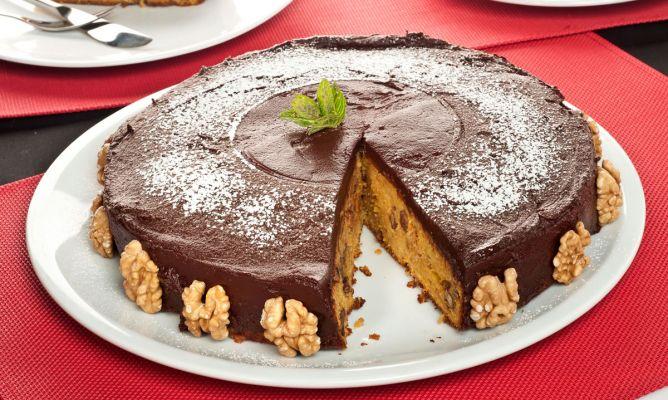 Receta de Bizcocho de zanahoria con chocolate o Chocolate carrot cake - Bruno Oteiza