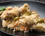 Arroz con pollo y aceitunas