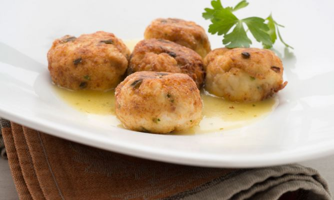 Receta de Albóndigas de liba con salsa meunière - Karlos Arguiñano