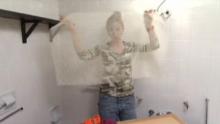 Cómo hacer una alfombra de baño - Paso 1
