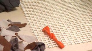 Cómo hacer una alfombra de baño - Paso 3