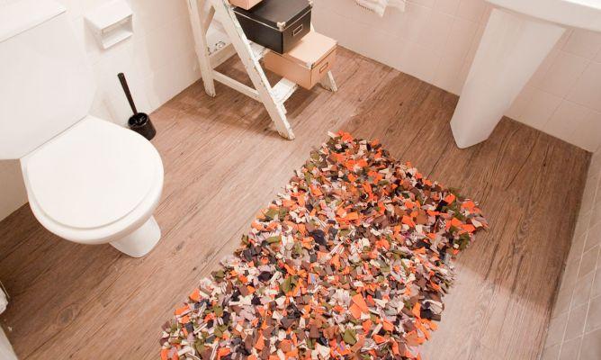 C mo hacer una alfombra de ba o decogarden - Alfombras de bano ...