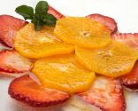 Carpaccio de naranja y fresa