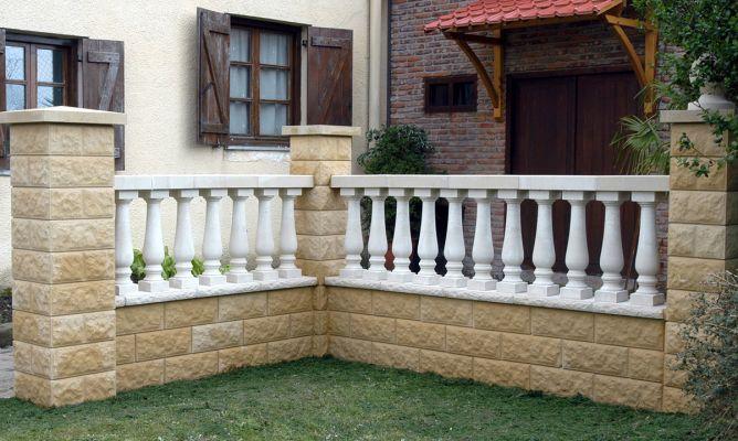 Muro con balaustrada bricoman a - Balaustres de piedra ...
