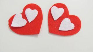 Cómo hacer un corazón de fieltro con broche para San Valentín - Paso 3